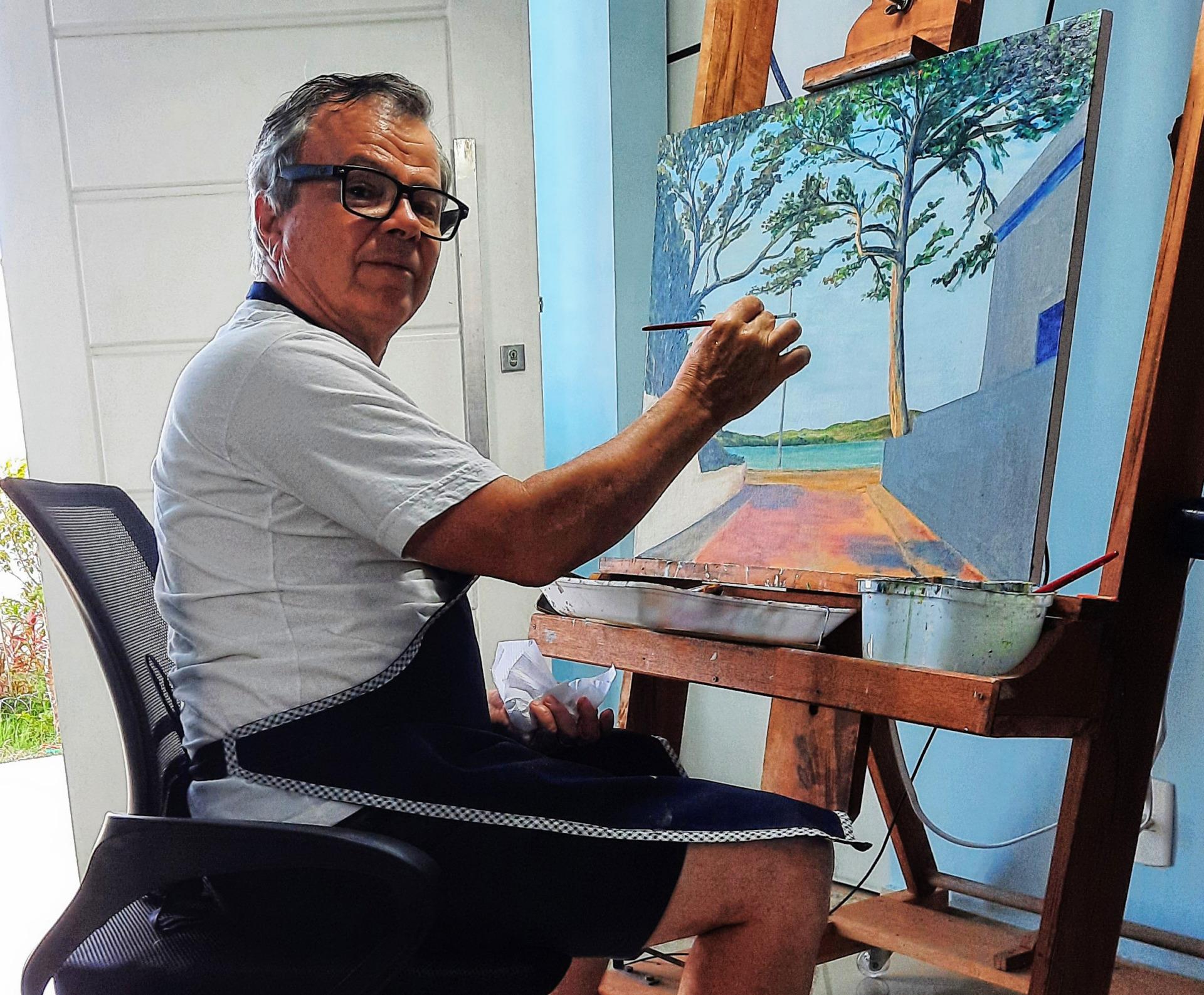 Paulo Jorge - pintura acrílica Passagem